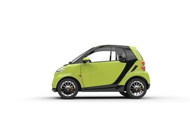 Bright Green Small Car