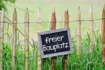 Fototapete - freier Bauplatz