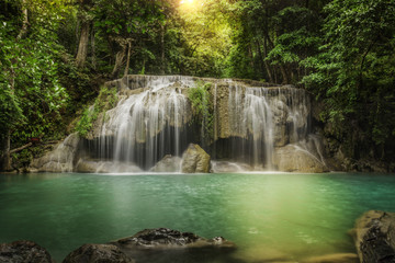 Second level of Erawan Waterfall in Kanchanaburi