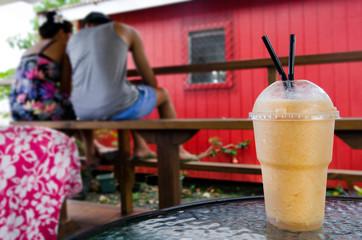 Exotic fruit drink shake