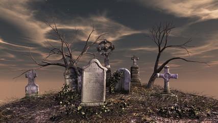 Foto auf Acrylglas Friedhof 墓地