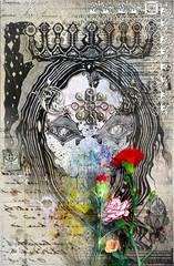 Printed kitchen splashbacks Imagination Queen of fairytales in old paper