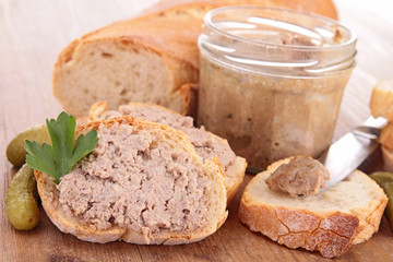 bread, meat spread