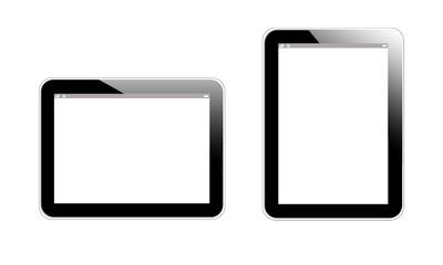 vecteur 2 tablets noir