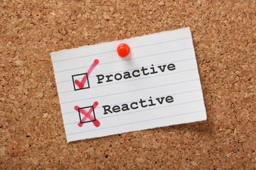 Proactive versus Reactive on a cork notice board