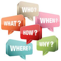 Obraz Speech Bubble Questions Retro - fototapety do salonu