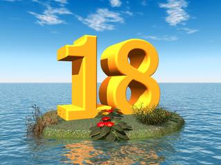 Die Zahl 18