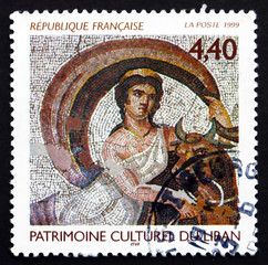Postage stamp France 1999 Transformation of Zeus into Bull