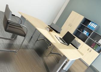 Modern office interior with desk