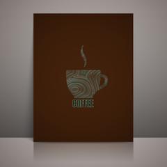 menu design with coffee sign