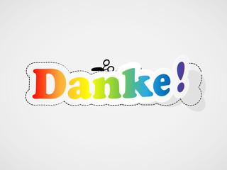 """""""DANKE"""" Karte (Schön Sehr Vielen Dank Freundlichkeit Bild)"""