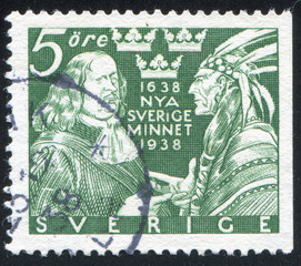 Johann Printz and Indian Chief
