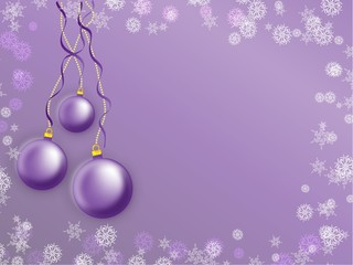 Christmas violet bauble