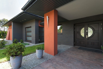 Entrance to a huge house