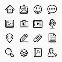 Web and Mobile line symbol Icon on white background