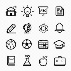 Education symbol line icon on white background