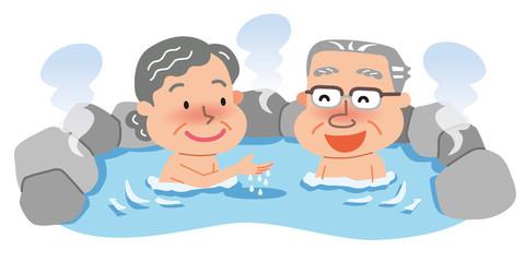 温泉 老夫婦 高齢者