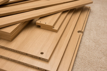 Pieces of flatpack furniture