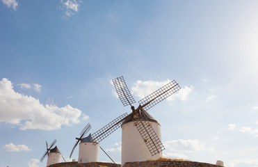 Windmills of Consuegra in the La Mancha region of central Spain