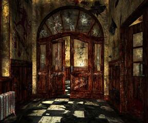 Scary Asylum Interior Background