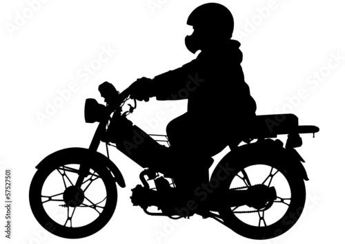 Fototapete Moped