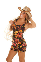 cowgirl smile hat rope