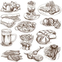 Food and Drinks around the World 2 - full sized hand drawings