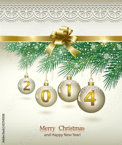 Christmas greeting card 2014 stock image and royalty free vector christmas greeting card 2014 m4hsunfo