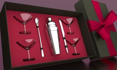 Coffret service cocktail