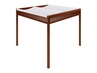 Design wooden pergola on the white