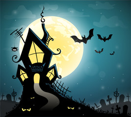 Halloween scary card