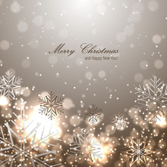 Beautiful christmas background with snowflakes
