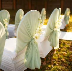 ceremony in  beautiful autumn  garden