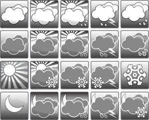 Set of wether icons