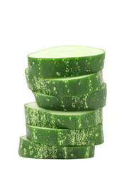 Stack of green cucumber.
