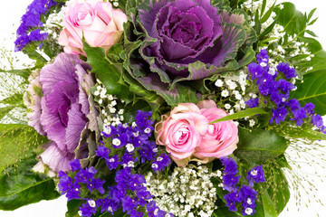 Blumenstrauss rosa blau 5