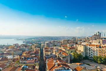 Fototapete - Istanbul View from Galata tower