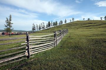 Ranch Fence, Khatgal, Mongolia