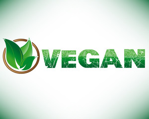 Vegan leaf with circle