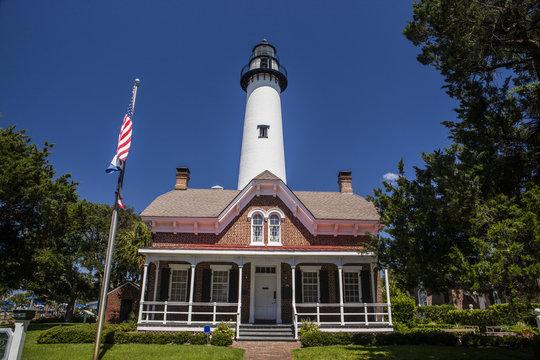Historic St. Simon Light House in Georgia