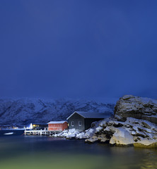 Wall Mural - Polar night.Tromso,Norway.