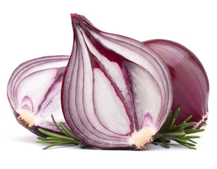 red onion and rosemary leaves