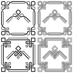 Celtic knot corners patterns 2