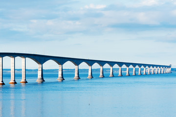Poster Canada Confederation bridge linking the provinces of NB and PEI
