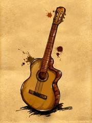Guitar Painting Image