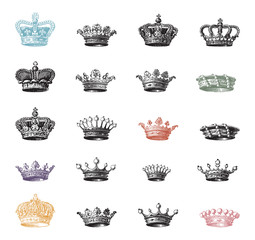 Set of ancient crowns