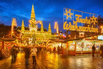 Papiers peints Vienne Christmas market in Vienna