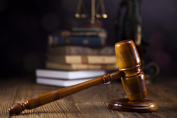 Law and justice concept, legal code and scales