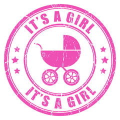Its a girl stamp