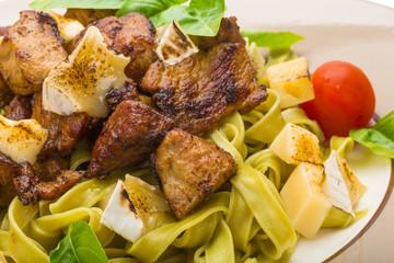 Tagliatelle with pork